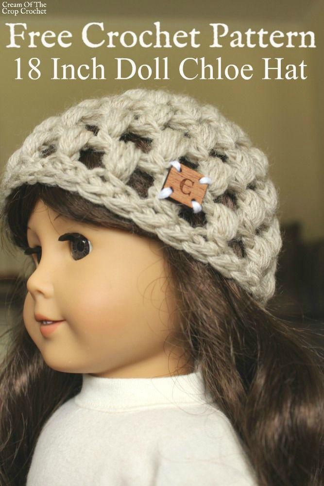 18 Inch Doll Chloe Hat Crochet Pattern Cream Of The Crop Crochet