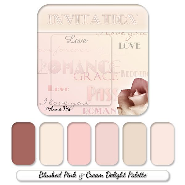Vintage Typography Wedding Line With A Blushed Pink And Cream Delight Color Palette