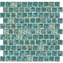This Fused Dichroic Gl Tile Exhibits More Than One Color When Viewed From Diffe Angles Aqua Silver Shows A True With Blue
