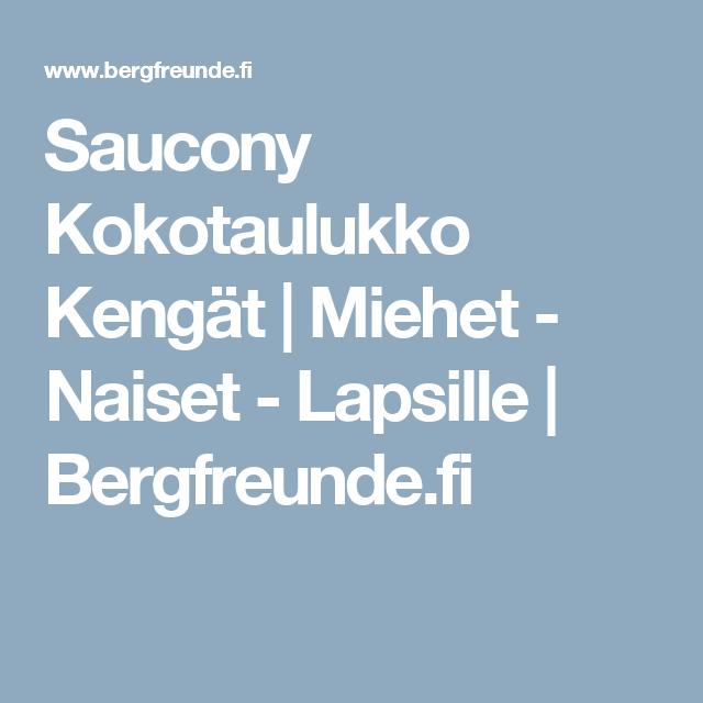 Saucony Kokotaulukko Kengät | Miehet - Naiset - Lapsille | Bergfreunde.fi