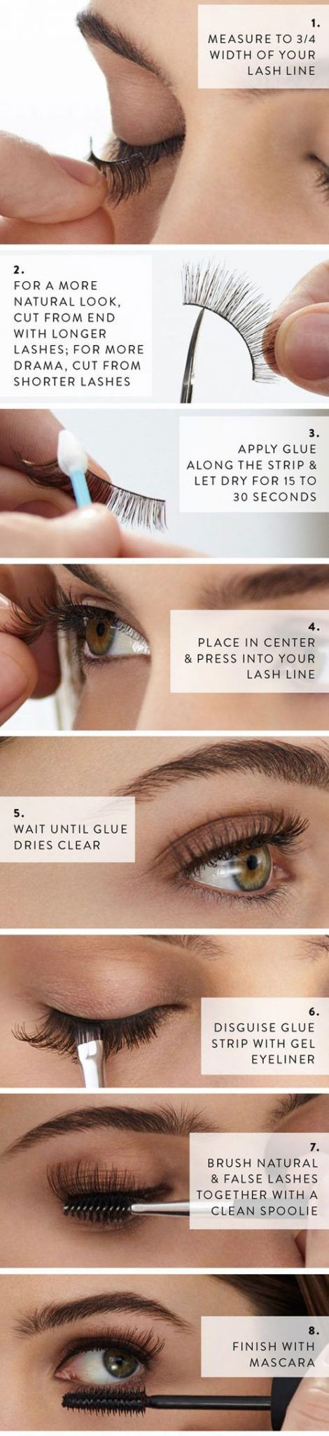 How to Apply False Eyelashes For the First Time (With Pictures