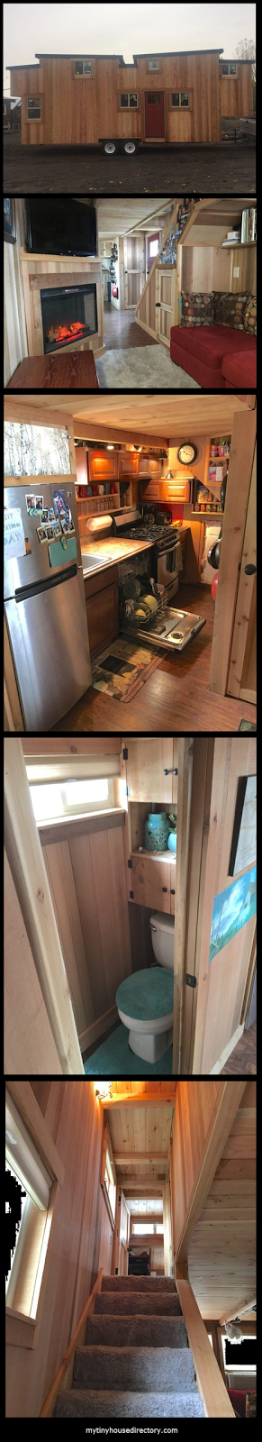 400 sq ft Tiny Home   Over 20 windows for lots of light   Batten and Board siding all cedar   Beautiful and spacious 3 bedroom, 1.5 bathr...