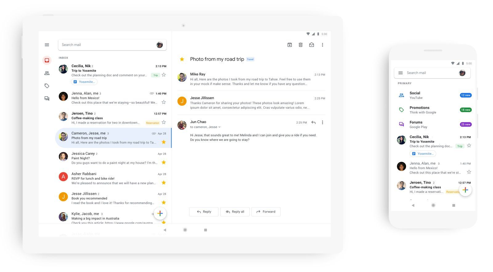 Google cleans up Gmail app with an allwhite redesign