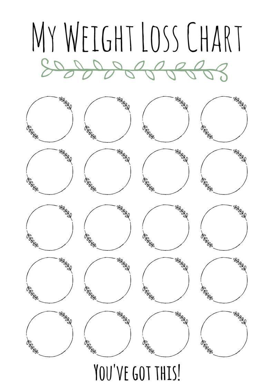 Pin On Detox Weight loss chart printable blank