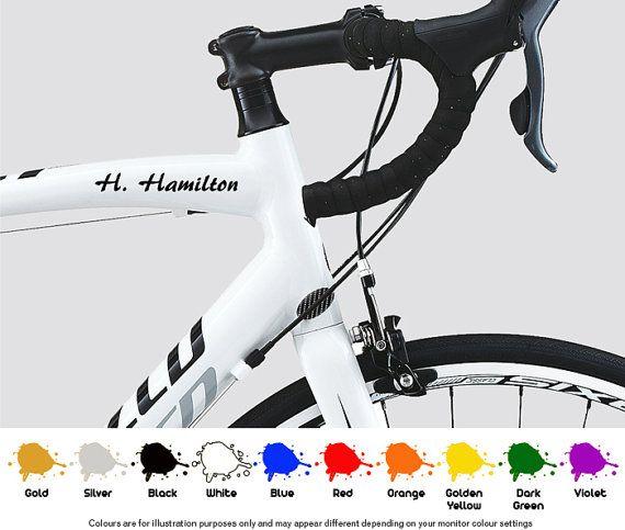 Bike Frame Custom Name Set Decals Stickers Road By Harrisonvinyls