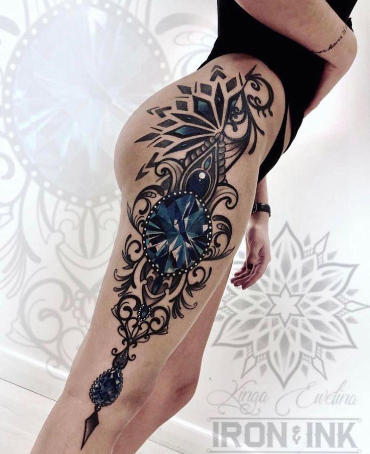 Geometric tattoo design leg geometric tattoo design