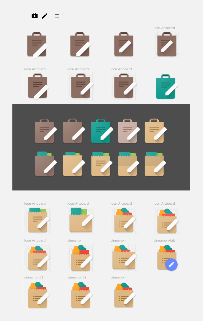 grocery shopping list android icons by cookicons