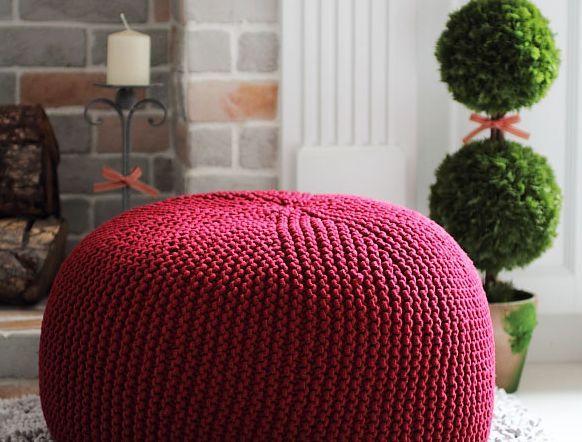 Como Fazer Um Puff De Tricô Bolsa De Crochê Knitted Pouf