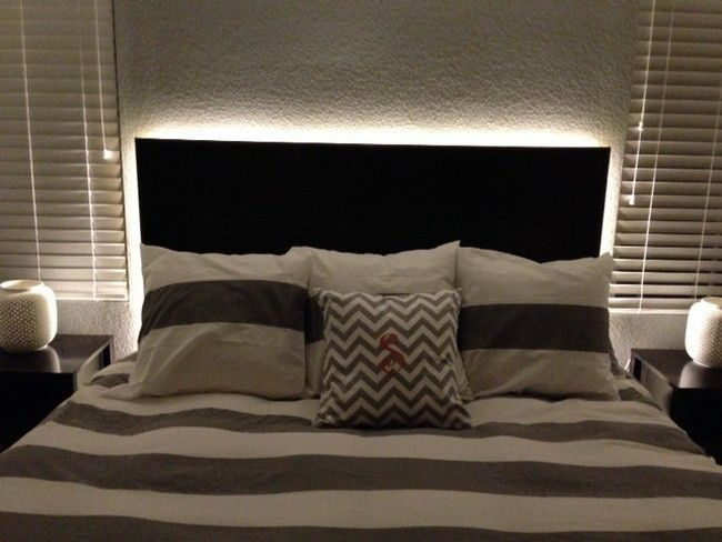 How To Make A Floating Headboard With Led Lighting Bedroom Diy