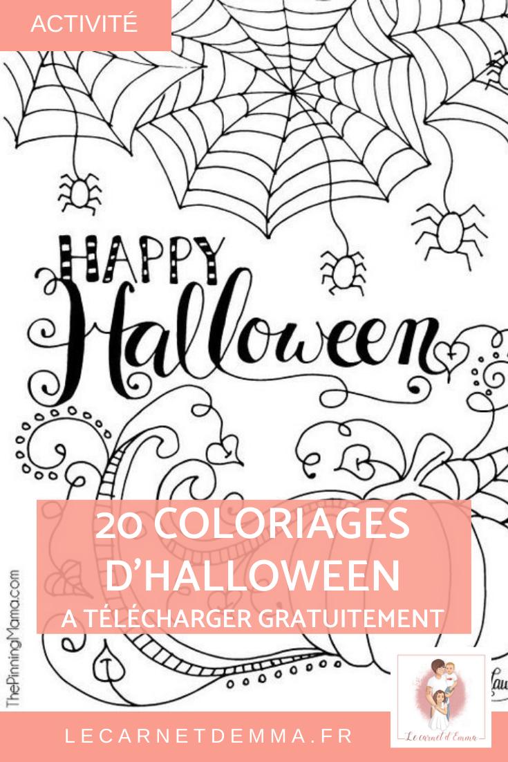 20 coloriages d'Halloween à imprimer Coloriage