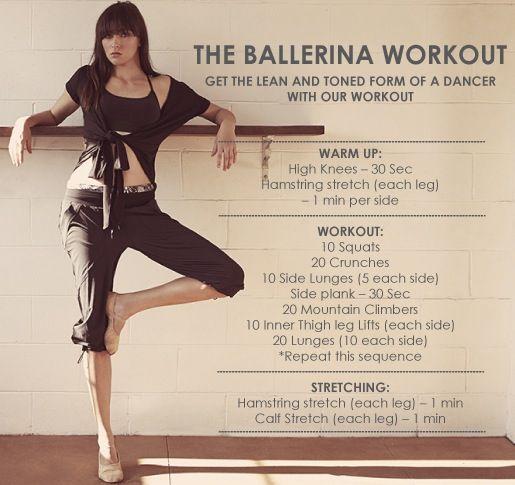 how to get a ballerina body diet