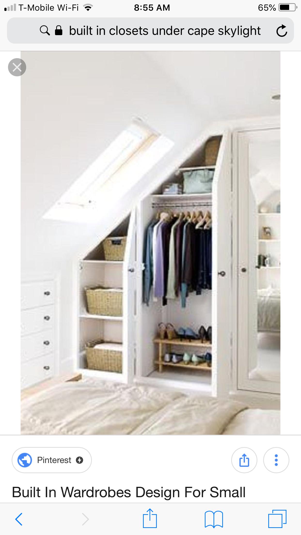 Small attic loft bedroom ideas  Pin by K G on Renovation cape in   Pinterest  Attic bedrooms