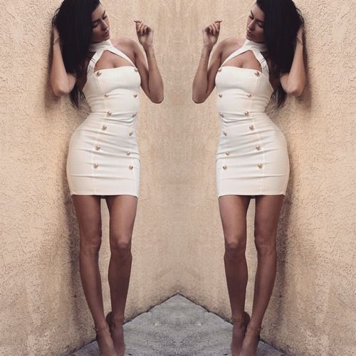 Nicole Williams of E!'s Wags wearing the 'Byblos' dress.