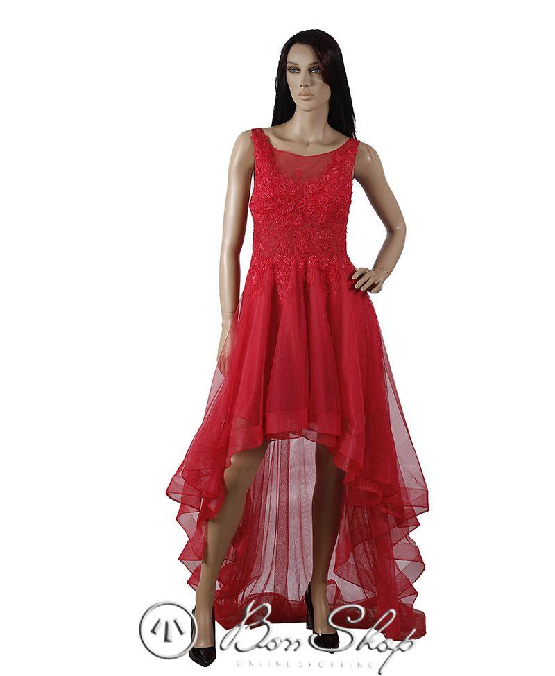 Qirmizi Paltar Corizzi Dresses Fashion High Low Dress