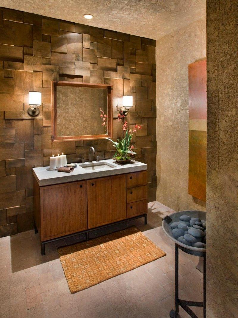 decoration salle bain zen panneau mural bois3d meuble