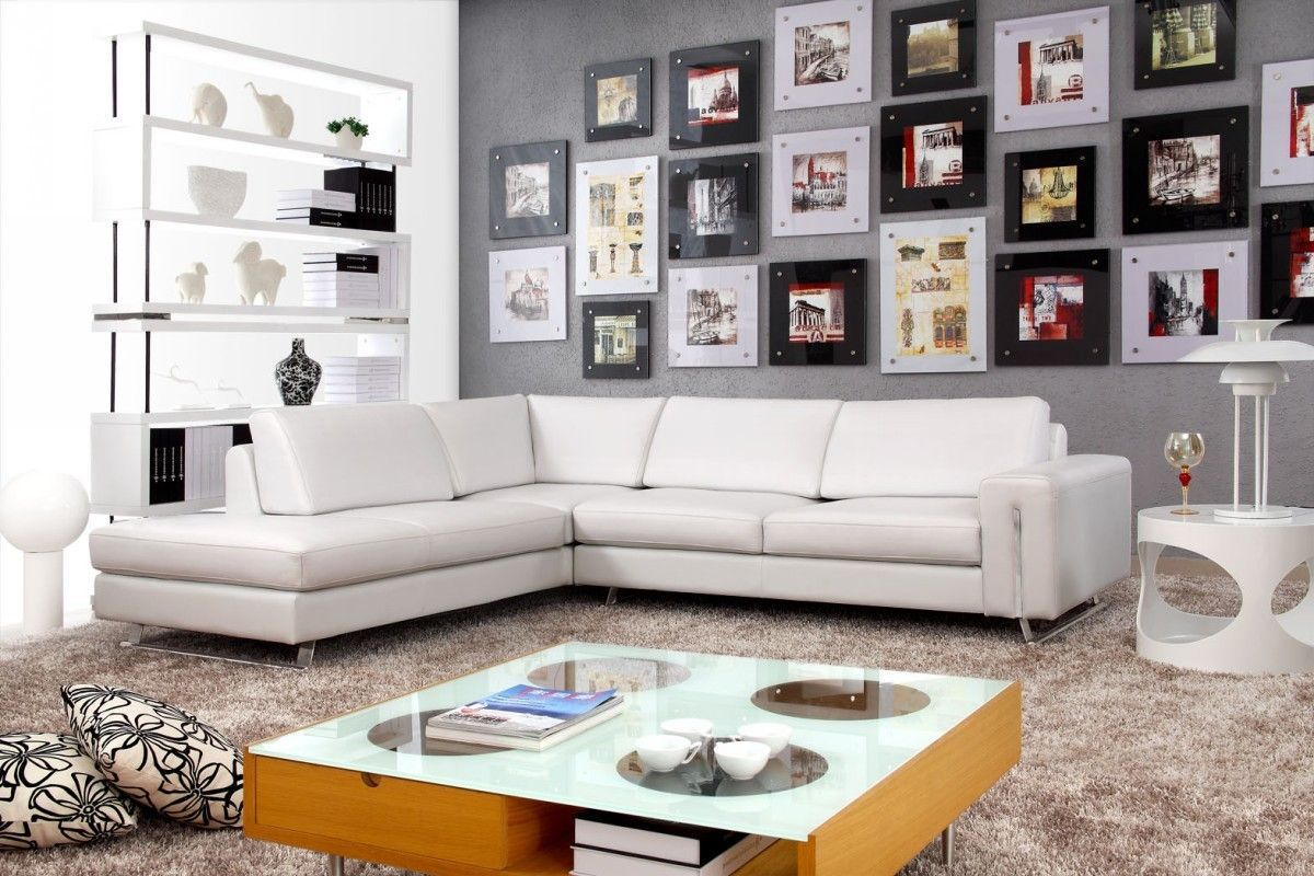 Brighten Up Your Living Space With 2018 White Leather Sofa White Sectional Sofa White Leather Sofas L Shaped Leather Sofa