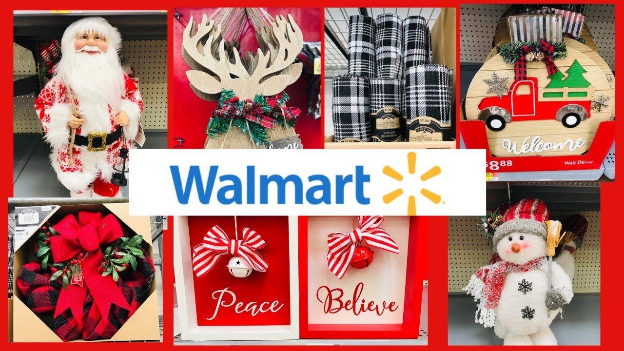 Youtube Christmas Decorations 2020 Walmart Christmas Shop with Me Christmas Decorations 2020🎄 in