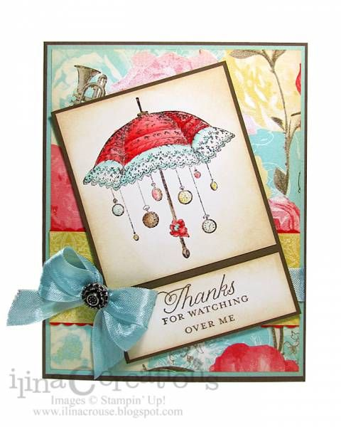 Thanks For Watching Over Me By Ilinacrouse Cards And Paper Crafts