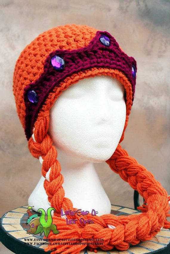 Anna from frozen inspired crochet princess crown hat | Häkeln ...