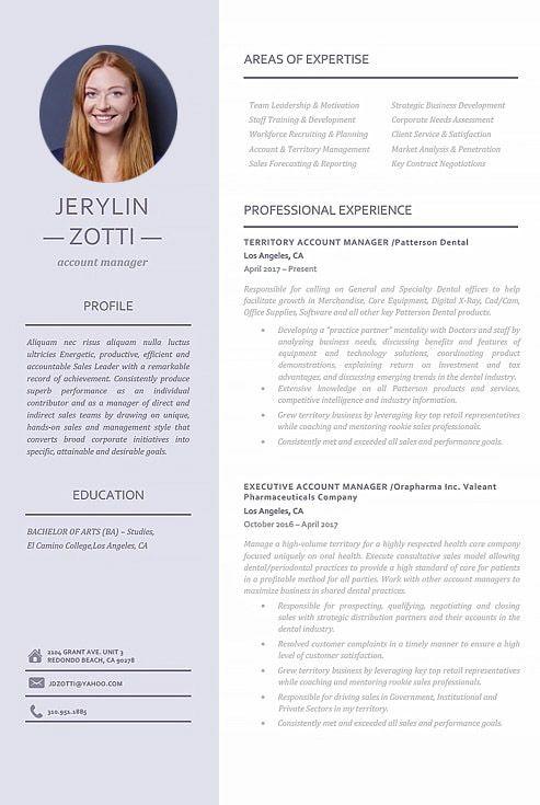 modern resume template 110950