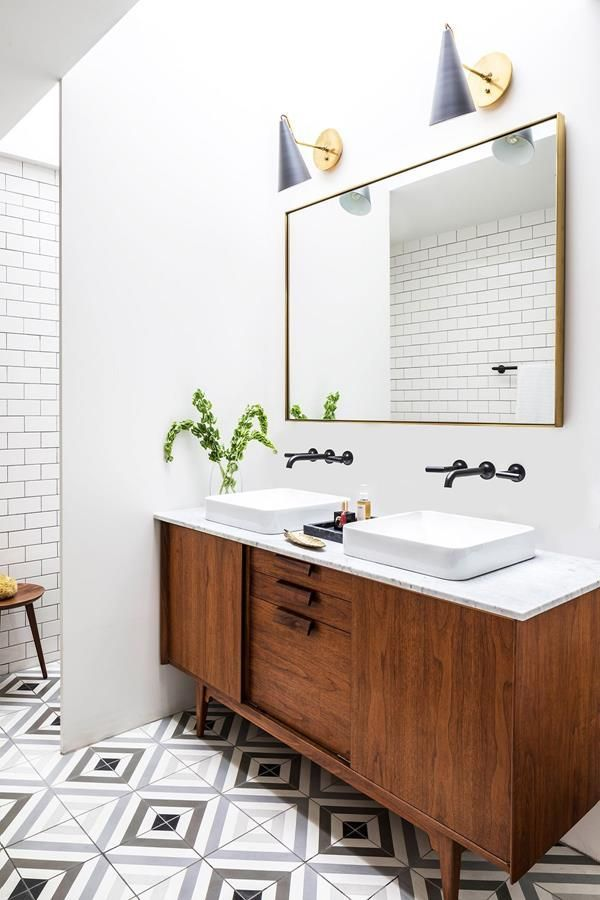 Mid Century Modern Bathroom Remodel Inspiration #Midcentury