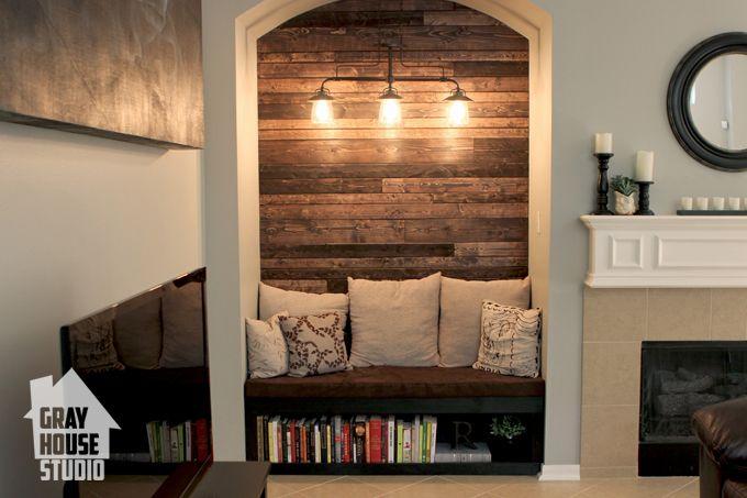 Wall Niche Living Room Diy Reading Nook