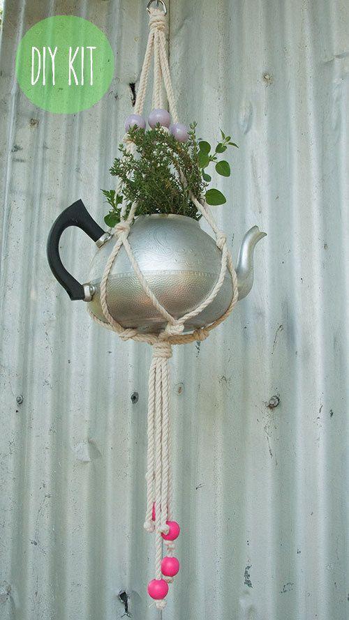 DIY Macrame Plant Hanging Kit Lilac and by MacramakeByronBay, $24.95