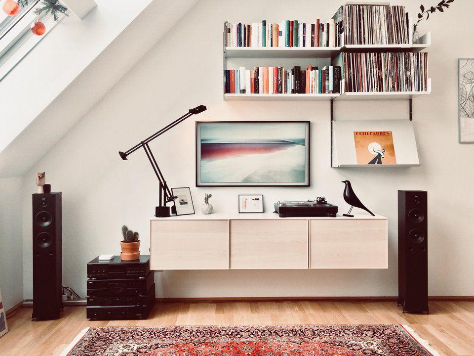My Living Room Media Wall Malelivingspace Living Room Speakers Minimalism Interior Minimal Interior Design