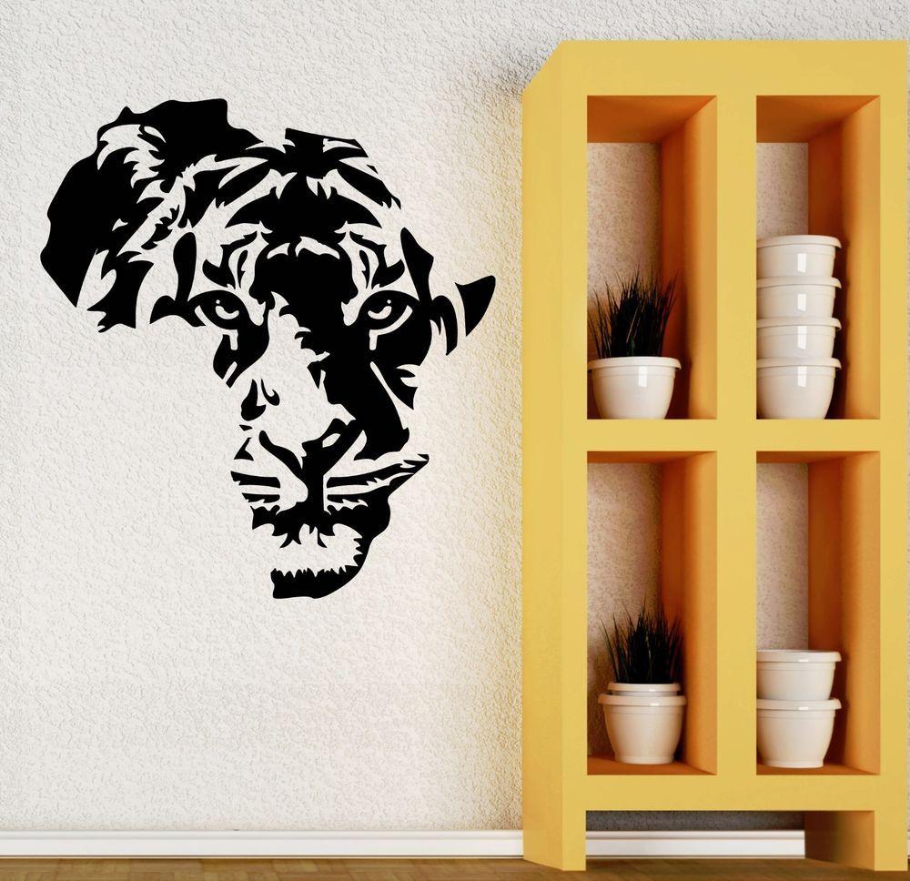 Wall Decal Tiger Animal Tribal Decor Living Kids Room Vinyl Art ...