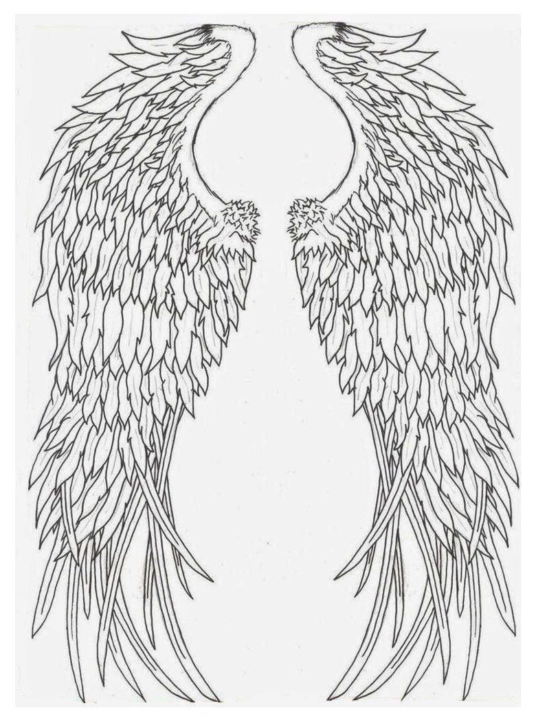 Angel wing stencil printable tattoo stencils printable