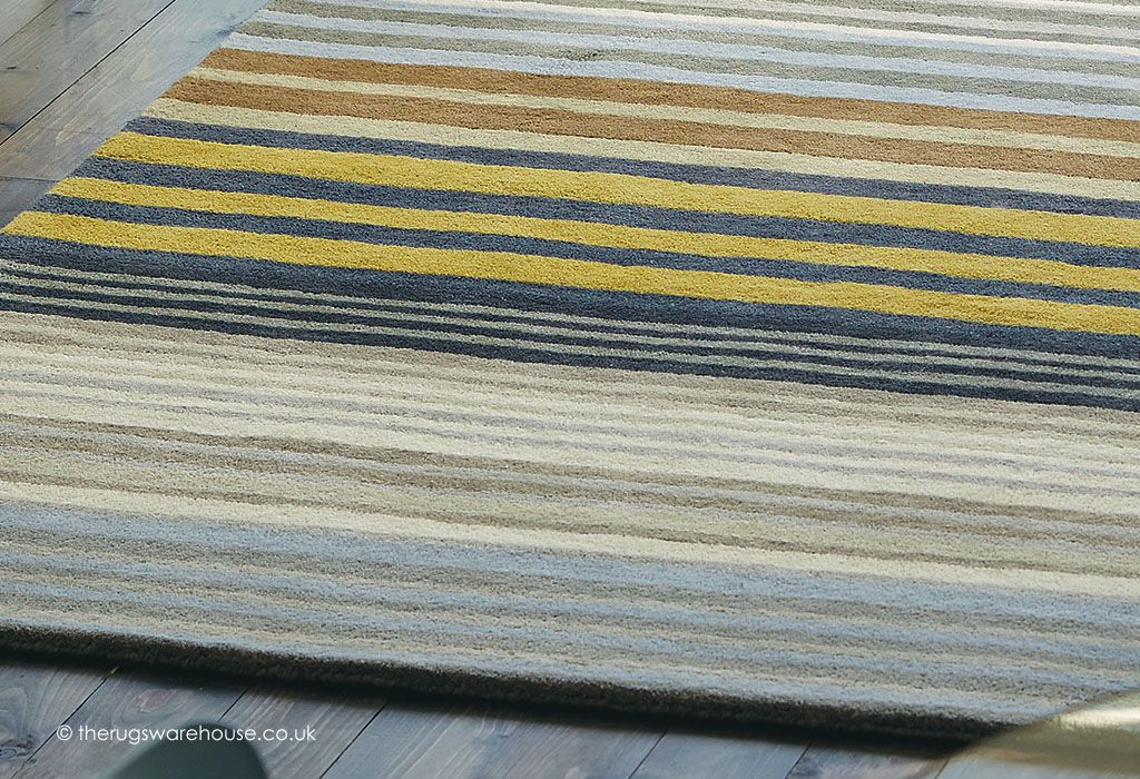 Medini Pewter Rug Texture Close Up Scion A Multi Coloured Striped