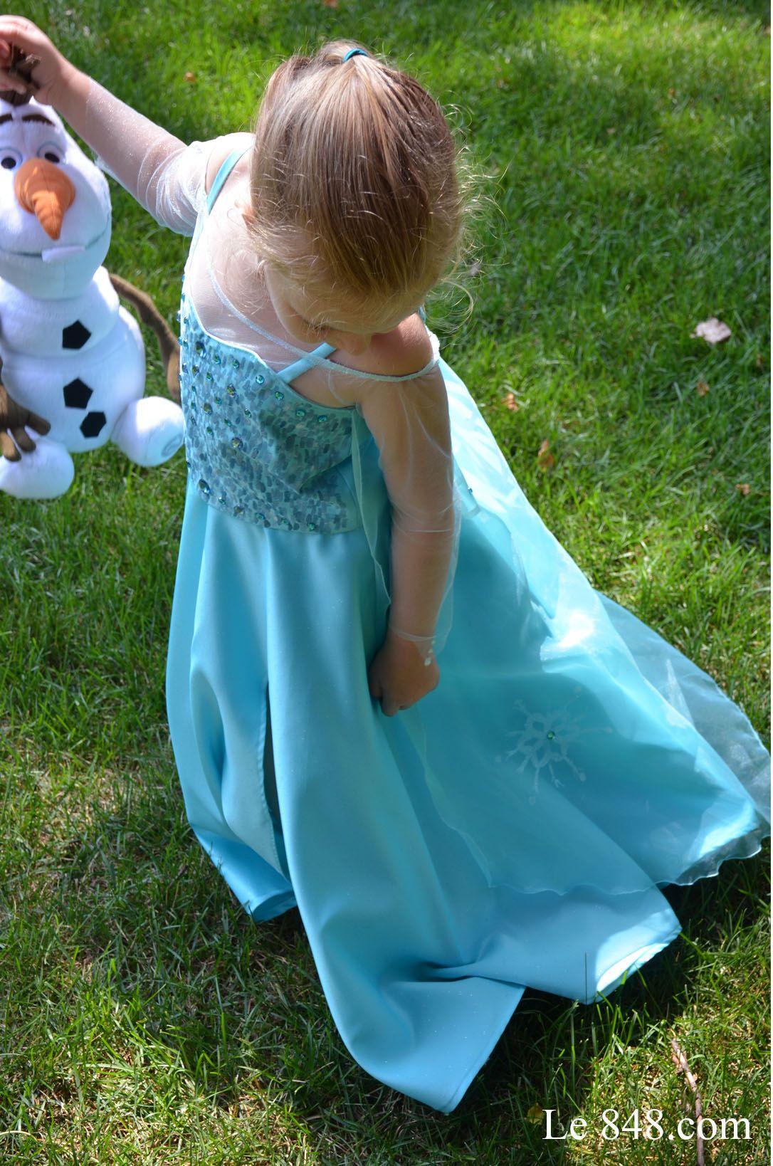 Frozen elsa 39 s dress la reine des neiges robe d 39 elsa reine des neiges pinterest elsa dress - Robe reine des glaces ...