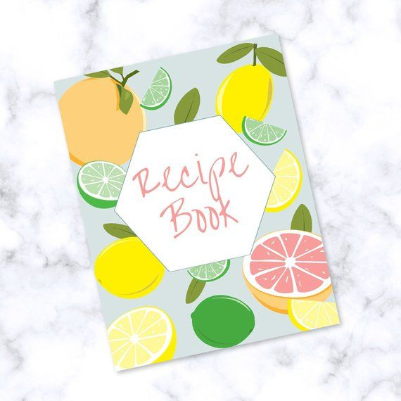 Printable Citrus Themed Recipe Insert Page