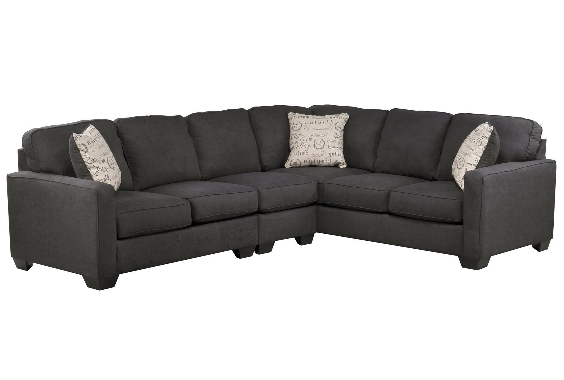 Best Alenya Charcoal 3 Piece Sectional W Laf Loveseat Leather 400 x 300