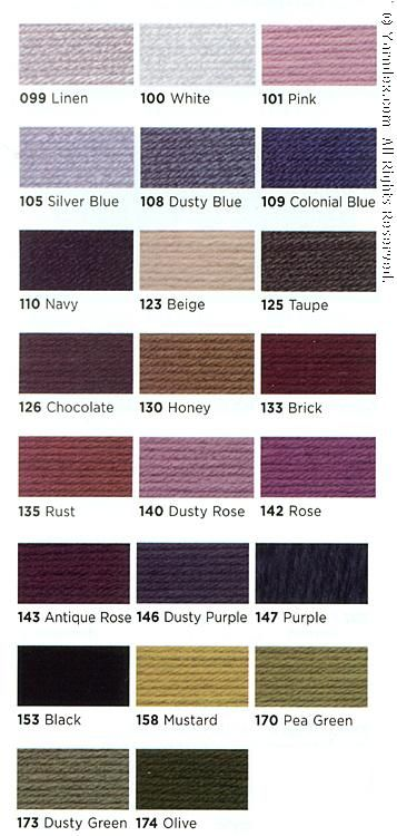 Vanna choice yarn lion brand  fall color card close coordinating also rh pinterest