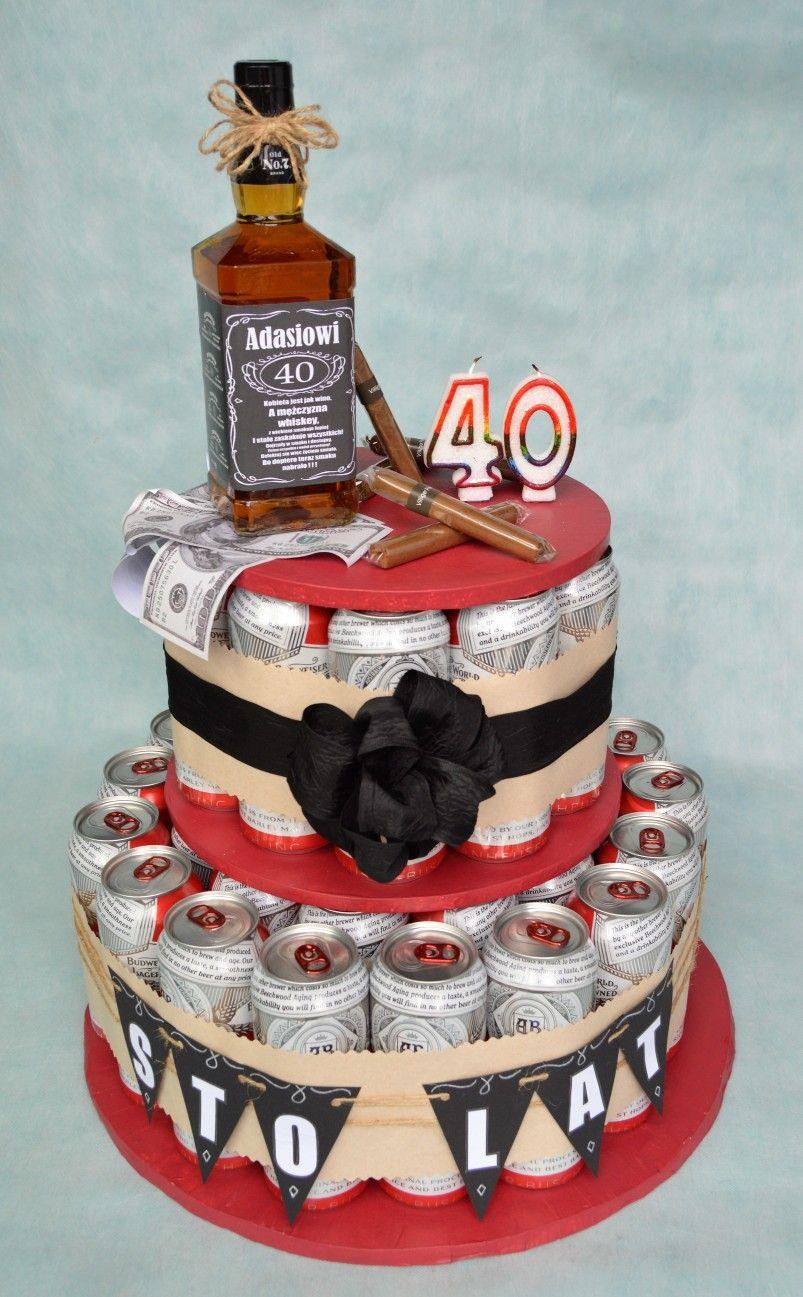 Tort Z Piw Na 40 Urodziny Cake Desserts Diaper Cake