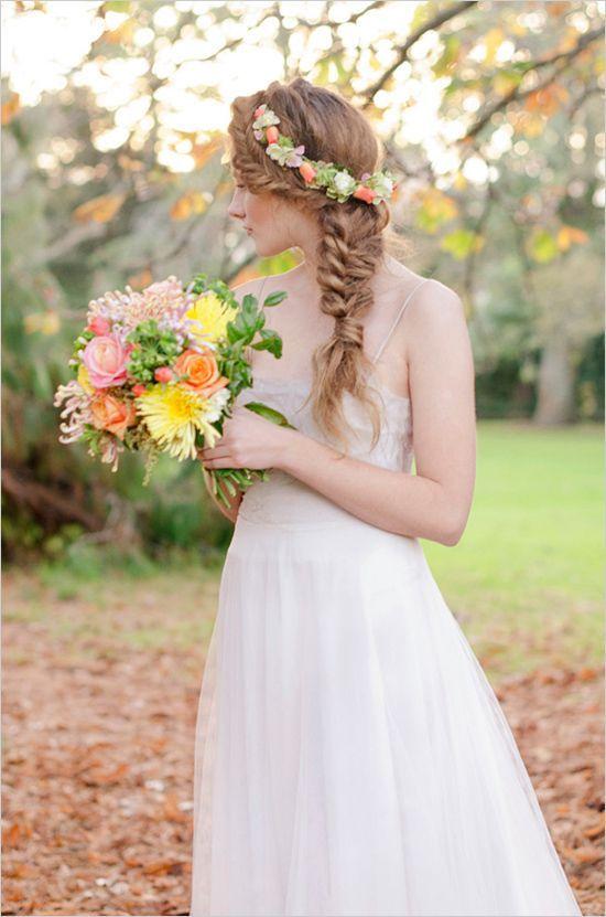 Corona de flores para la novia | En el país de las bodas