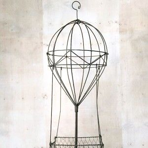 Wire hot air balloon, to hang in baby boy's nursery and fill with stuffed  animals