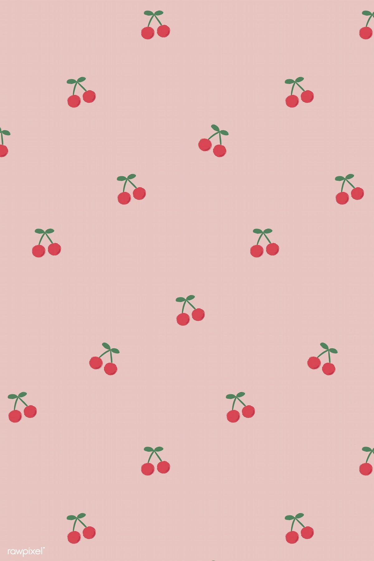 Download Premium Vector Of Red Hand Drawn Cherry Seamless Pattern On Pink Aesthetic Iphone Wallpaper Iphone Background Wallpaper Cute Patterns Wallpaper