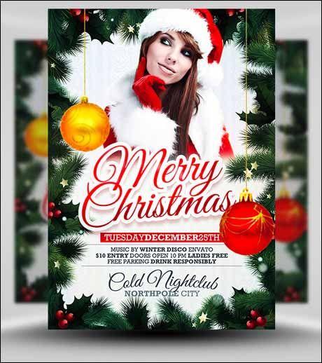 christmas flyer psd free