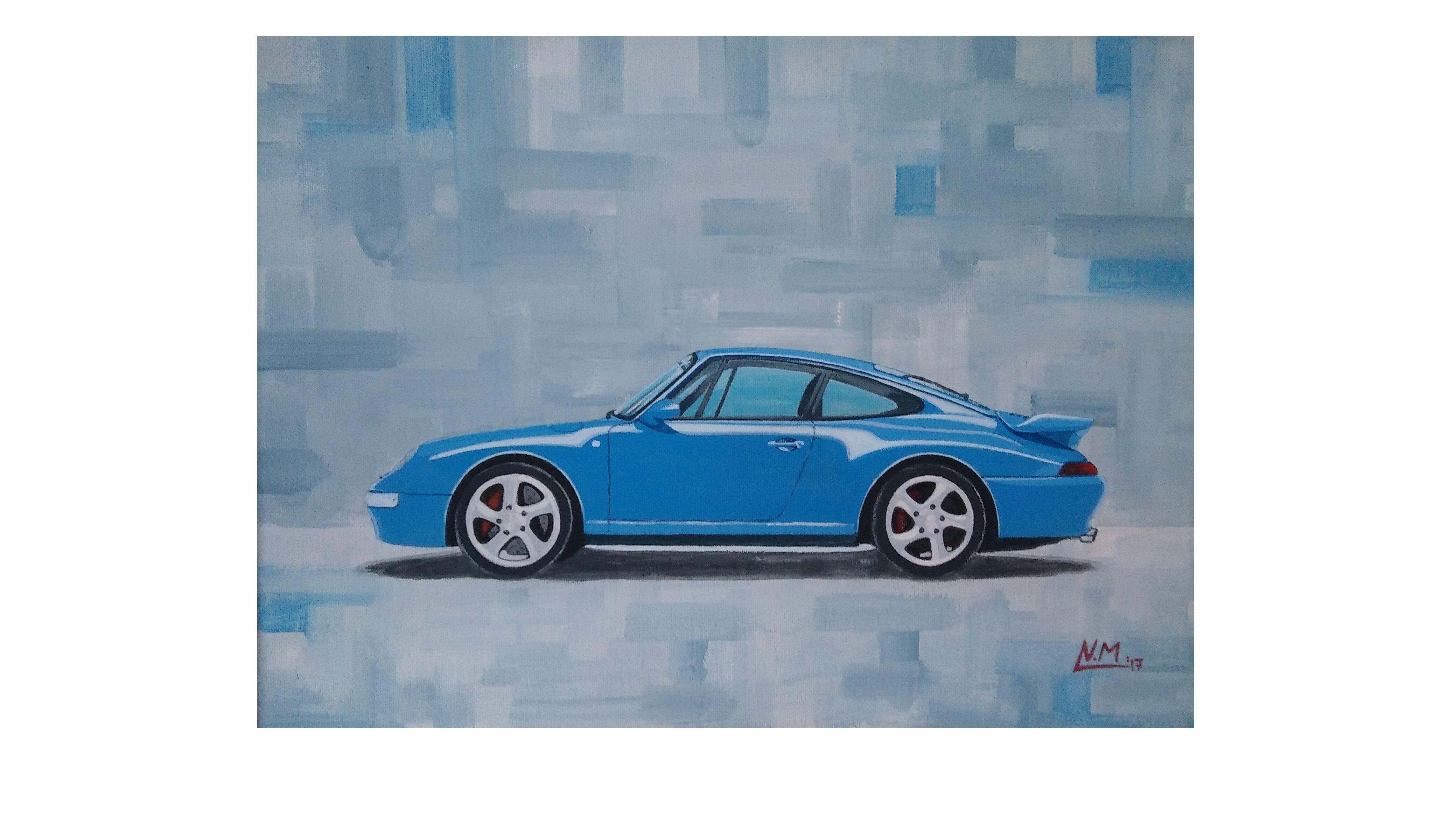 Porsche 993 turbo acrylic painting for sale #porsche993