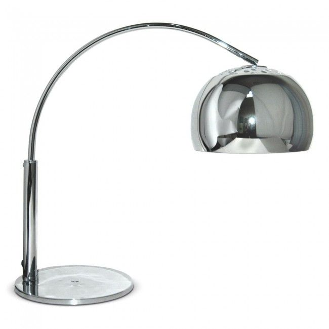 Chrome shade lamps google chrome pinterest tesco direct curva retro arc table lamp in chrome aloadofball Gallery