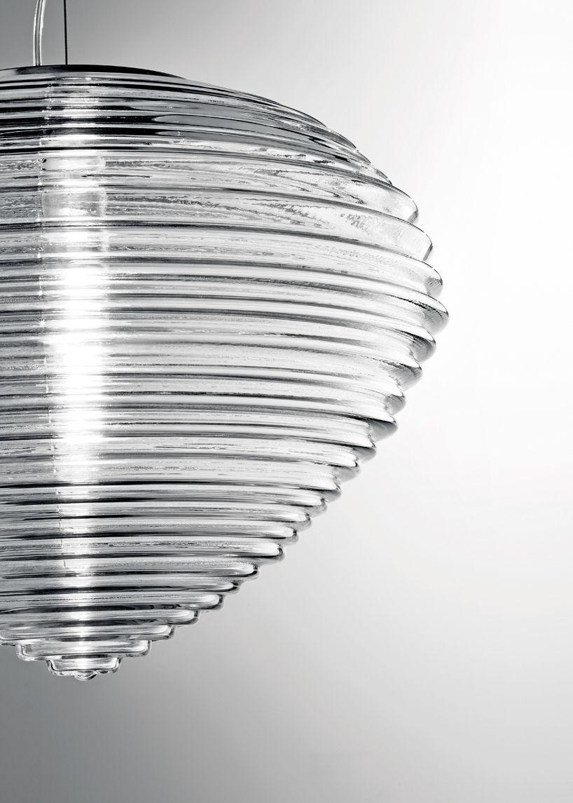 venetian glass lamp by marco acerbis studio mimics refraction and ...