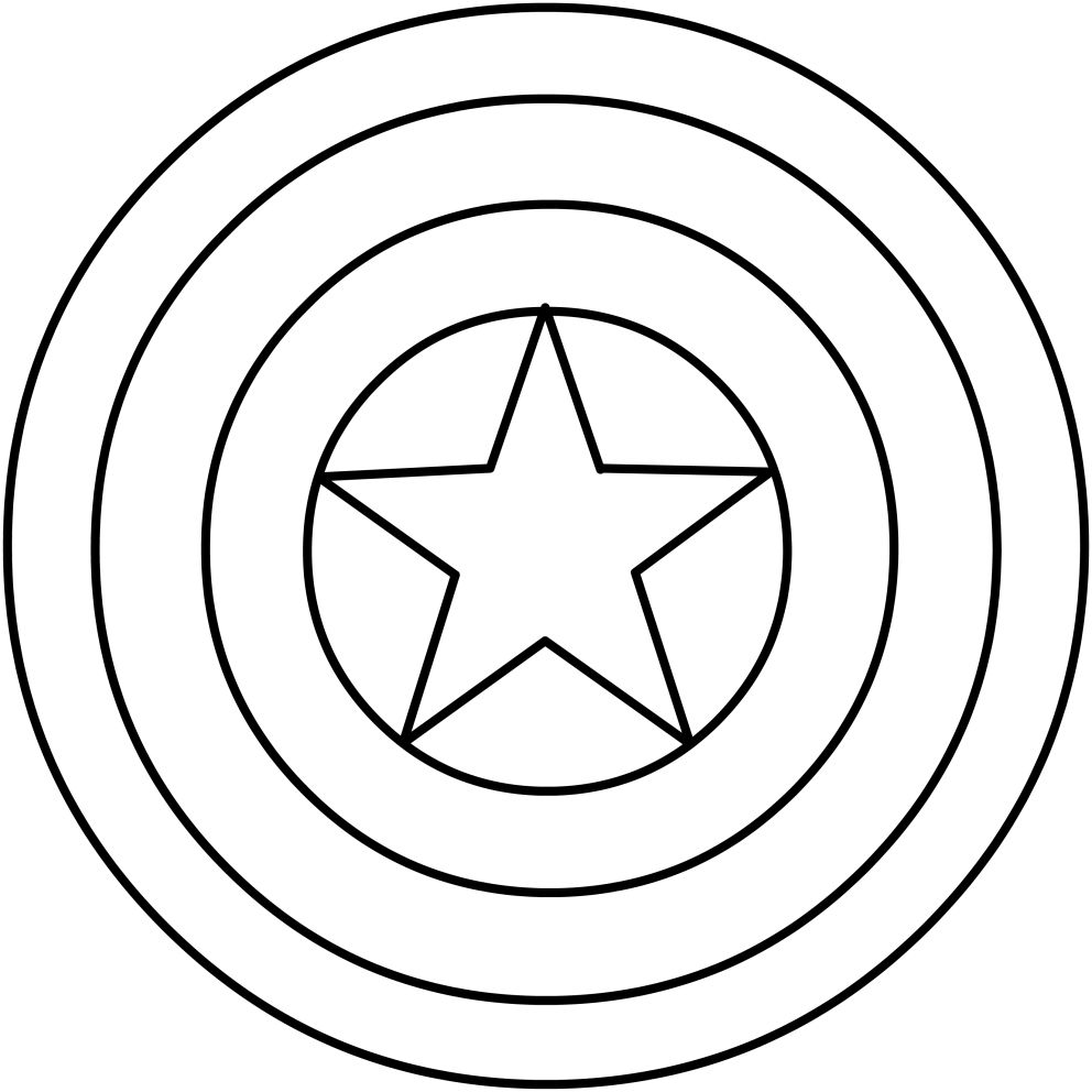 Resultado De Imagen Para Escudo Capitan America Para Colorear