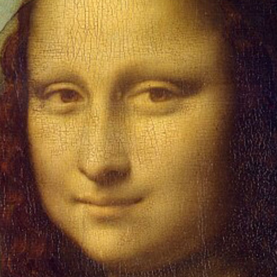 Monalisa had NO EYEBROWS 😲😱 Or was Da Vinci playing with tones 🤯🤪# monalisa #davinci #painting #instagood | Yellow framed art, Mona lisa,  Framed art