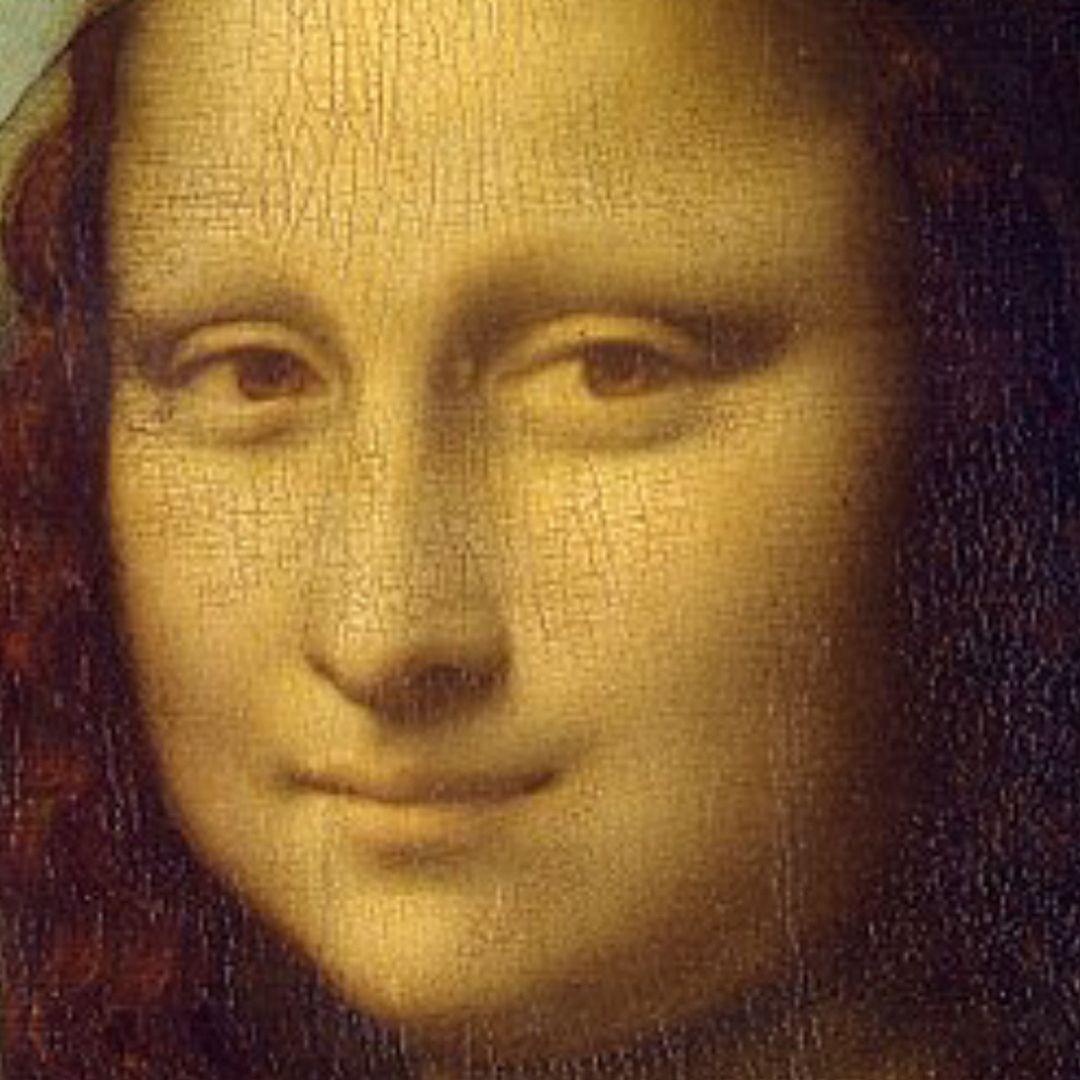 Monalisa had NO EYEBROWS 😲😱 Or was Da Vinci playing with tones 🤯🤪# monalisa #davinci #painting #instagood   Yellow framed art, Mona lisa,  Framed art