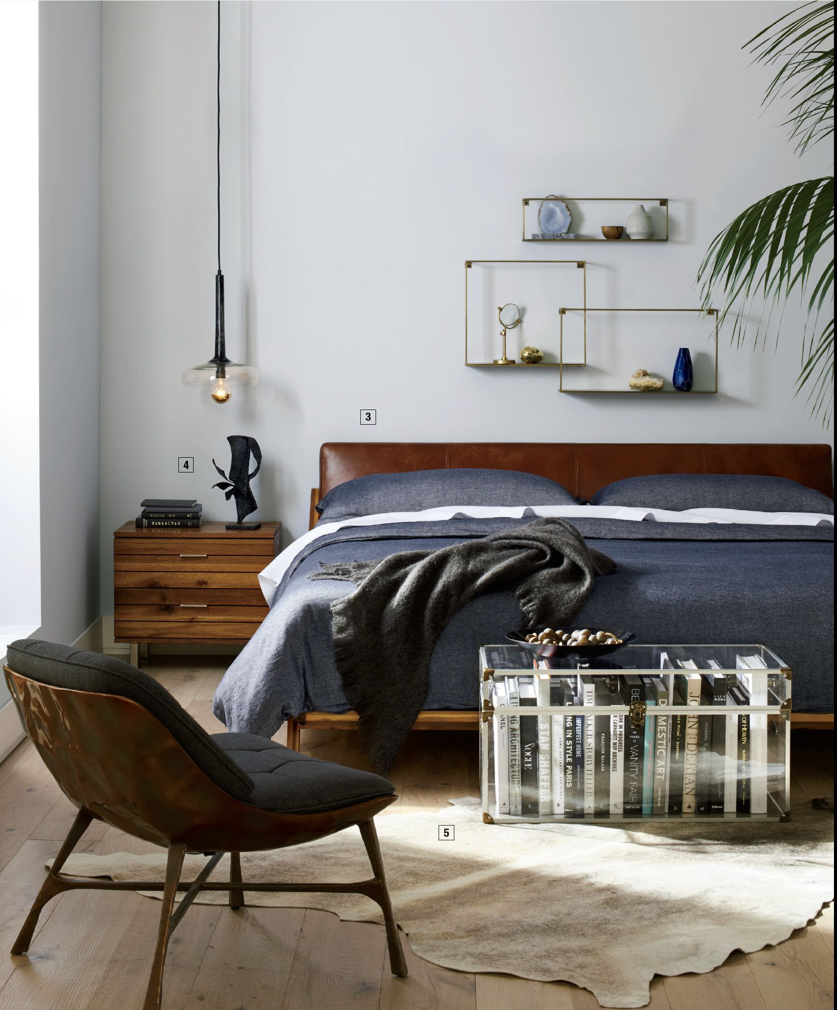 Mod Large Clear Trunk Reviews Cb2 In 2021 Mens Bedroom Decor Mens Apartment Decor Bedroom Interior