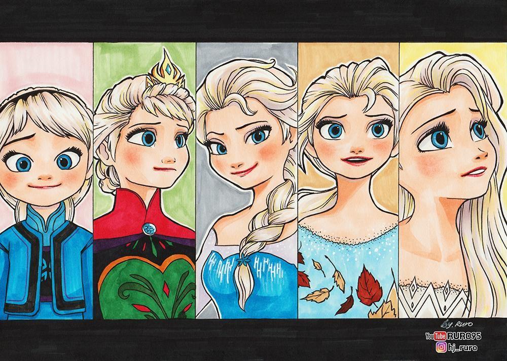 Frozen 1 2 Fanart Changing Elsa By Ruro95 On Deviantart Fan Art Disney Fan Art Disney Art