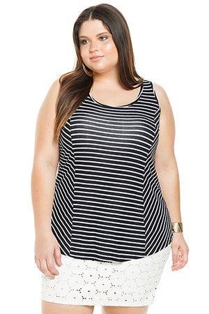 520362fd2 Regata Cativa Mais Contemporary Stripes - Preto | costura | Blusas ...