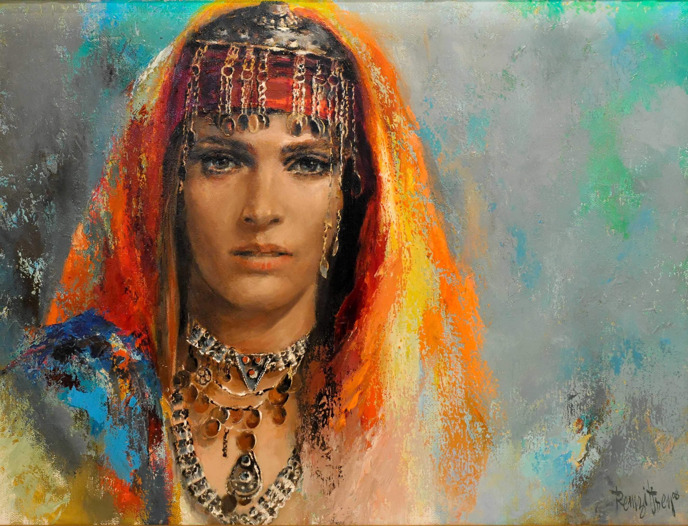 arabian women схема вышивки